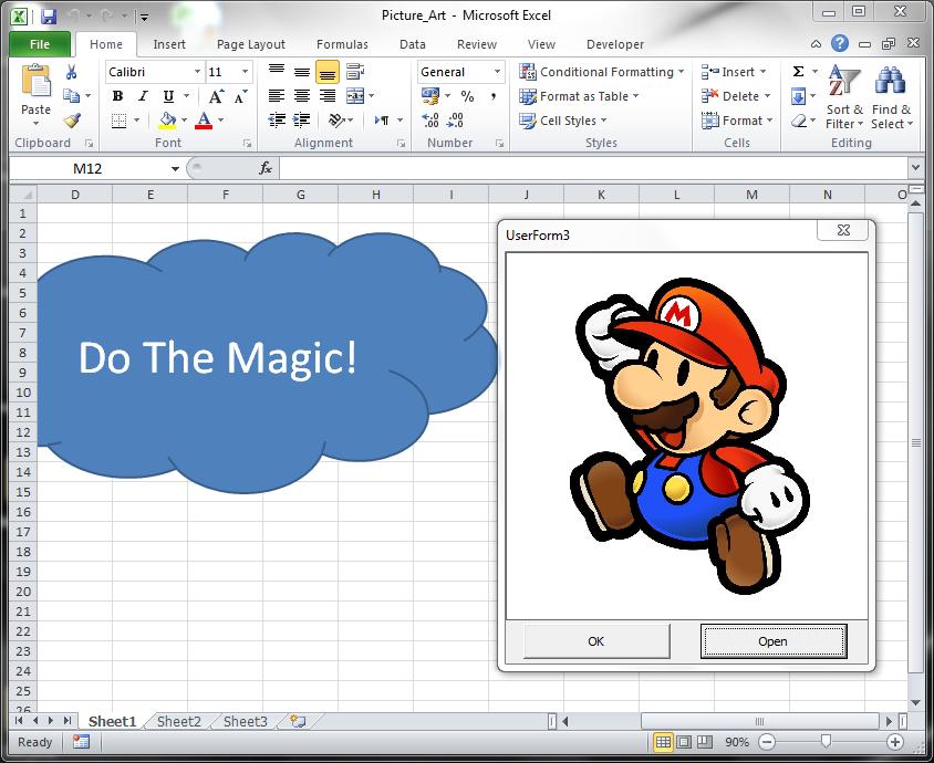 Excel Art Load Image